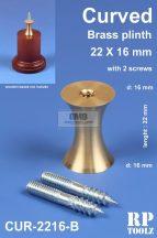 Curved brass plinth 22x16 mm
