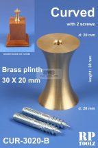 Curved brass plinth 30x20 mm