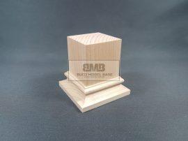 Beech Figure base natural 5x5