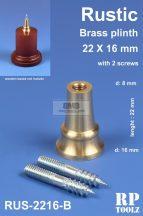 Rustic brass plinth 22x16 mm