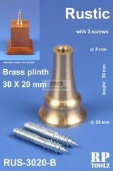 Rustic brass plinth 30x20 mm