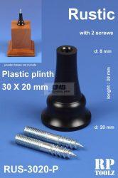 Rustic formájú műanyag alátét 30x20 mm