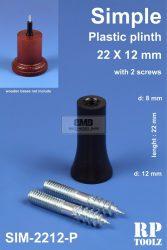 Egyszerű formájú műanyag alátét 22x12 mm