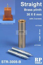 Straight brass plinth 30x8 mm