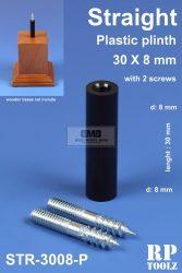 Egyenes formájú műanyag alátét 30x8 mm